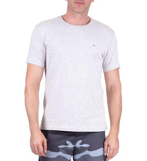 Camiseta Masculina Cinza Claro Lisa - M