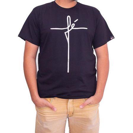 Camiseta Masculina Fé Preta M