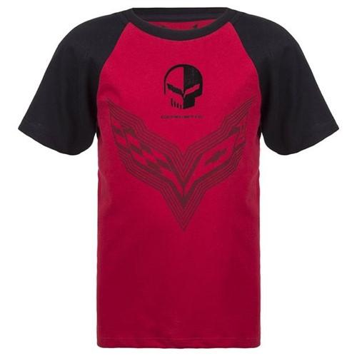Camiseta Mixed Flame Infantil Corvette Gm Vinho/preto 2 Anos 11079