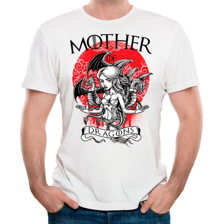 Camiseta Mother Of Dragons P-BRANCO