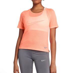 Camiseta Nike Mc Miler Laranja Mulher GG