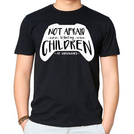 Camiseta Not Afraid Children P-PRETO
