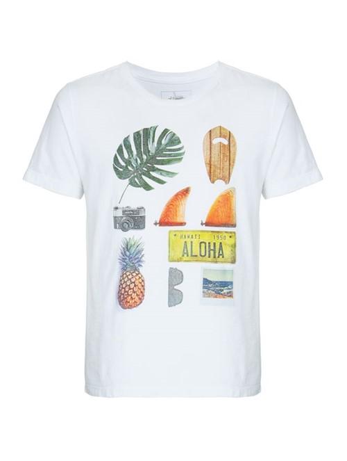 Camiseta Organizer de Algodão Branca Tamanho G