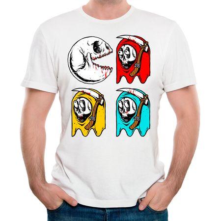 Camiseta Pac Skull P-BRANCO
