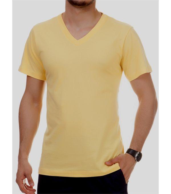 Camiseta Pau a Pique Masculina Amarelo AMARELO - G