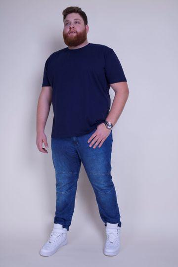 Camiseta Plus Basica Azul Marinho P