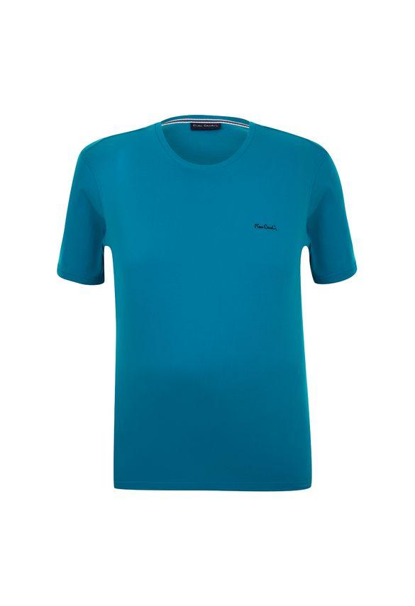 Camiseta Plus Size Basic Azul Petróleo 8