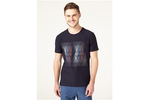 Camiseta Pontilhismo Geométrico - Marinho - G