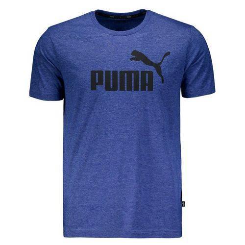 Camiseta Puma Essentials Heather Azul Mescla