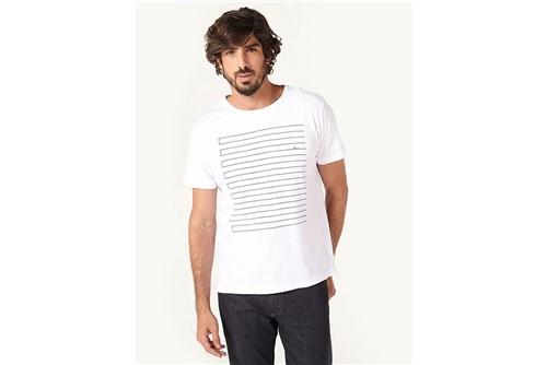 Camiseta Quadro de Linhas - Branco - M