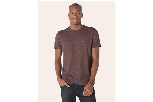 Camiseta Rajada Bicolor - Vinho - P