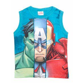 Camiseta Regata Avengers Infantil para Menino - Azul 10