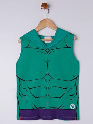 Camiseta Regata Avengers Infantil para Menino - Verde