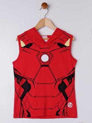 Camiseta Regata Avengers Infantil para Menino - Vermelho
