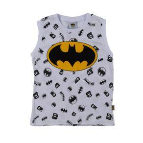Camiseta Regata Batman Infantil para Menino - Branco 1
