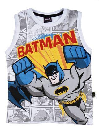 Camiseta Regata Batman Infantil para Menino - Branco