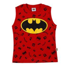 Camiseta Regata Batman Infantil para Menino - Vermelho 2