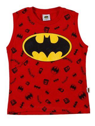 Camiseta Regata Batman Infantil para Menino - Vermelho