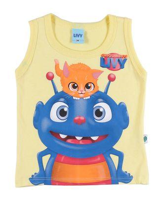 Camiseta Regata Infantil para Bebê Menino - Amarelo