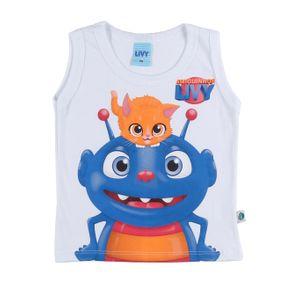 Camiseta Regata Infantil para Bebê Menino - Branco M