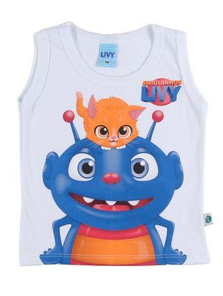 Camiseta Regata Infantil para Bebê Menino - Branco
