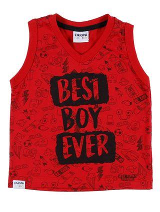 Camiseta Regata Infantil para Bebê Menino - Vermelho