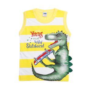 Camiseta Regata Infantil para Menino - Amarelo 3