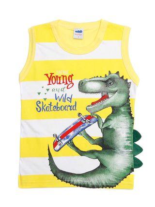 Camiseta Regata Infantil para Menino - Amarelo