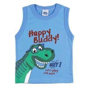 Camiseta Regata Infantil para Menino - Azul 2