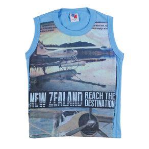 Camiseta Regata Infantil para Menino - Azul 10
