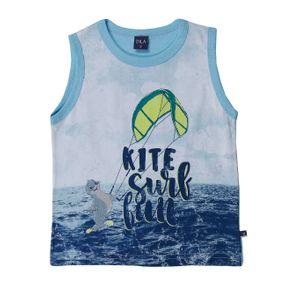 Camiseta Regata Infantil para Menino - Azul 1