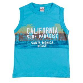 Camiseta Regata Infantil para Menino - Azul 4