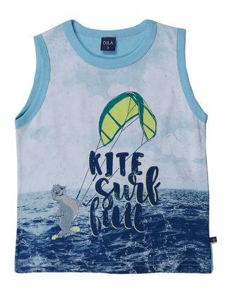 Camiseta Regata Infantil para Menino - Azul
