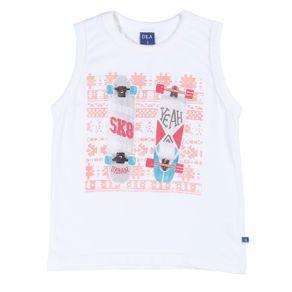 Camiseta Regata Infantil para Menino - Bege 1