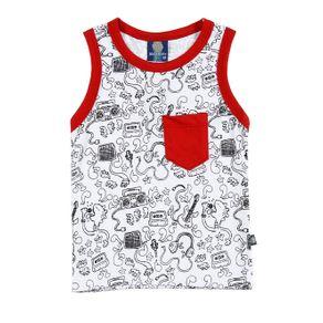 Camiseta Regata Infantil para Menino - Branco 1