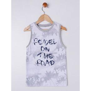 Camiseta Regata Infantil para Menino - Branco 4