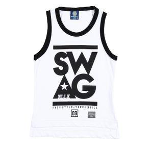 Camiseta Regata Infantil para Menino - Branco 6