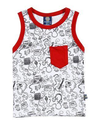 Camiseta Regata Infantil para Menino - Branco