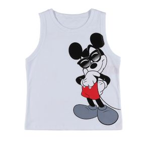 Camiseta Regata Infantil para Menino Disney Branco 8