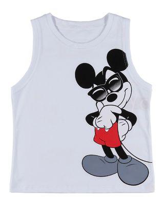 Camiseta Regata Infantil para Menino Disney Branco