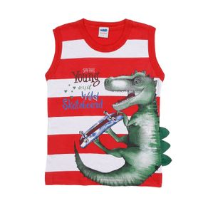 Camiseta Regata Infantil para Menino - Vermelho 2