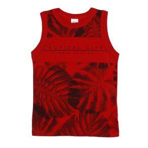 Camiseta Regata Infantil para Menino - Vermelho 8