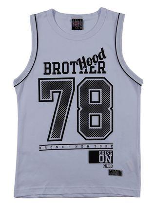 Camiseta Regata Juvenil para Menino - Branco