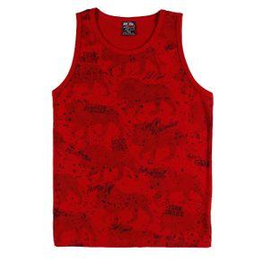 Camiseta Regata Juvenil para Menino - Vermelho 18