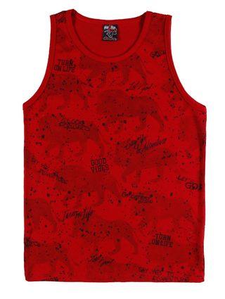 Camiseta Regata Juvenil para Menino - Vermelho