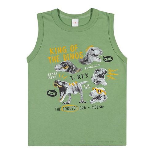 Camiseta Regata Marisol Play Verde Menino