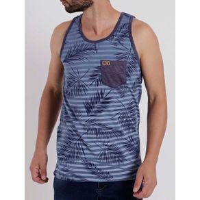 Camiseta Regata Masculina Azul M
