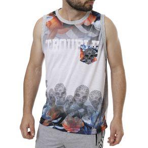 Camiseta Regata Masculina Federal Art Cinza M