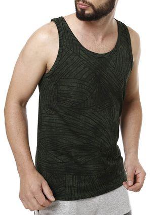 Camiseta Regata Masculina Fido Dido Verde