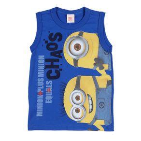 Camiseta Regata Minions Infantil para Menino - Azul 6